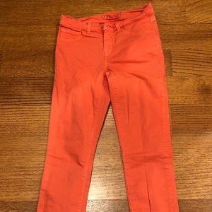 J BRAND tangerine skinny jeans